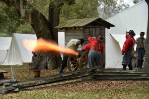 Civil War reenactment 2018 Firing Cannon